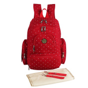 Abonnylv Nappy Bag Backpack with Insulated Pockets , Changing Pad and Stroller Strap