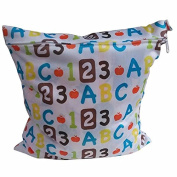 BabyGo Baby Nappy bag Useful waterproof reusable zipper Cloth Nappy Wet Dry Bag Tote Swimer LY4