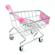 Creazy 2016 Mini Supermarket Handcart Shopping Utility Cart Mode Storage Basket Desk