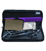 eshion Professional Stainless Hairdressing Barber Hair Thinning Scissors Set