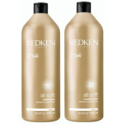 REDKEN All Soft Shampoo and Conditioner 1000ml Duo