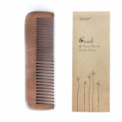 EQLEF® Premium Natural wooden comb handmade Body Hair Comb With Two different Tooth Comb