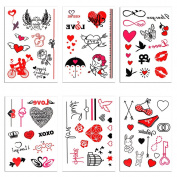6 Sheet Premium Funny Bachelorette Party Tattoo Christmas Temporary Tattoos Bridal Show