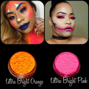 """New Eyeshadow Pigment Myo Ultra Bright Matte """"Ultra Bright Pink"""" & """"Ultra Bright Orange"""" Mica Cosmetic Mineral Makeup 3 Gramme Small Size"""