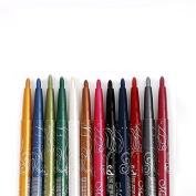 SelfTek 12Pcs Eyeliner Pen Autorotation Eye Shadow Pen
