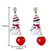 Banggood Christmas Gift Cute Snowman Stud Dangle Earrings for Women Girls