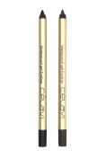Celavi Waterproof Gel Eyeliner Pencils, 2 Piece - Black and Dark Brown, .150ml