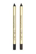 Celavi Waterproof Gel Eyeliner Pencils, 2 Piece - Black and Dark Brown, .150ml