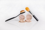 FOUNDATION & CONCEALER COMBO w/ BRUSHES Mineral Makeup Kit Full Size Set Matte Bare Face Sheer Powder Cover