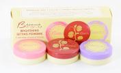 Besame Cosmetics Brightening Setting Translucent Colour Correcting Mini Face Powder Trio