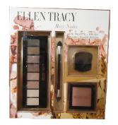 Ellen Tracy Rosy Nudes Makeup Palette and Blush Brush set