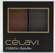 Celavi Eye Shadow Dual Colour Mini Palette w/ Tweezer, Angled Brow Brush and Stencils