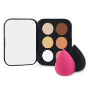 RUIMIO Contour Kit Portable Cream Contour Palette Mini-Size 6 Colours