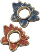 Bead, Cloisonne Lotus Flower Pendant Bead - 20mm