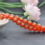 Grade AA Natural Red Agate Beads Gold Mantra Carved 8mm-14mm Smooth Polished Round 15 Inch Strand AG25R