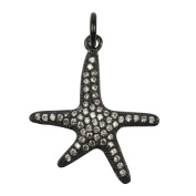DongStar Jewellery Finding Alloy Austrian Crystal Stone Dancing Star Lucky Bracelet Connector Charm