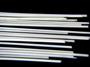 Devardi Glass COE 41kg Spaghetti Stringers, 2mm, Opaque White, 120mls Fusing, Beadmaking Rods