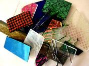 Devardi Glass COE 90 Dichroic, Iridized & Textured 45ml Sheet Glass Mix