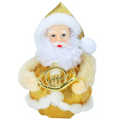 Xmas Gift Santa Claus Doll Toy Christmas Tree Decoration Ornaments X-mas Day,Golden
