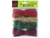 Joseph M Stern Raffia JMS2875.501 4 Colour Christmas Collection, 120ml