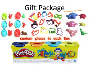 Blue, Orange, Teal, Neon Yellow Play-Doh 4-Pack of Colours 470ml Gift Set Gift Toy for Boys and Girls 1 pack of 4 cans