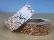 Copper Washi Tape Metallic & Glitter Craft Tape Set