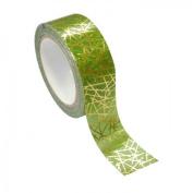 Green & golden Masking tape - geometric metal 1.5 cm x 10 m