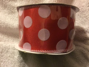 Red polka dot wired ribbon