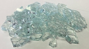 0.9kg. Broken Tempered Glass for Craft and Art Projects - Clear, 0.6cm Thick