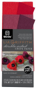 Lia Griffith Double Sided Crepe Paper Folds Roll, 0.6sqm, Sangria and Aubergine, Cherry and Raspberry