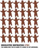 Quiplip UI146PCK Bear Hug Thank You Birthday Friendship Card (6 Pack),