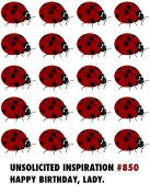 Quiplip UI826PCK Ladybug Birthday Card (6 Pack),