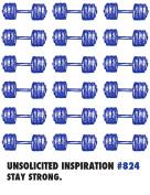 Quiplip UI57 Encouragement / Strength Greeting Card,