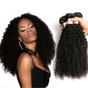 Tuneful Hair 16 18 50cm Brazilian Curly Virgin Hair 3 Bundles Kinky Curly Virgin Hair Weave 100% Unprocessed Brazilian Remy Human Hair Extensions Natural Black Colours
