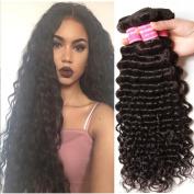ALI JULIA Wholesale Brazilian Virgin Deep Wave Hair 3 Bundles 100% Unprocessed Human Hair Weave Extensions Natural Colour Mixed Length 95-100g/pc