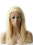 Doubleleafwig Silky Straight Light Blonde 613# Brazilian Virgin Remy Hair Full Lace Wigs