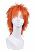 Icoser Bleach Kurosaki Ichigo Anime Cosplay Party Wigs Orange Short Synthetic Hair 34cm