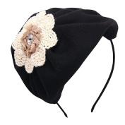 Beret Hat Hair Hoop Fascinator Headband Wedding Party Headpiece for Girls