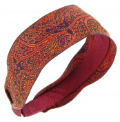 L. Erickson USA Ribbon Headband - Winter Swirl Red