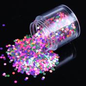 ECBASKET Trending Fashion Multi Colour Round Glitter Powder Nail Dust DIY Nail Glitter Slices
