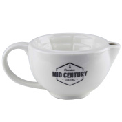 Mid Century Shaving Shave Scuttle Bowl for use with a Shaving Brush Wet Shaving - Cup or Mug Alternative