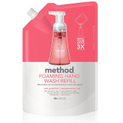 Method Naturally Derived Foaming Hand Wash Refill, Pink Grapefruit, 6 Count