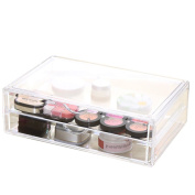 Choice Fun King Size Makeup and Office Supplies Storage Box with 2 Drawers 35cm L8.23cm W4.7.6cm H