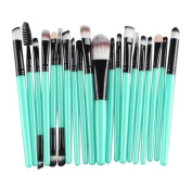 Gillberry 20 pcs Makeup Brush Set tools Make-up Toiletry Kit Wool Make Up Brush Set