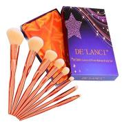 DE'LANCI 8Pcs Makeup Brushes Contouring Highlighting Brush Set Pro Synthetic Contour Brush Kit Powder Concealer Foundation Eyeshadow Make Up Brush Tools with Gift Box