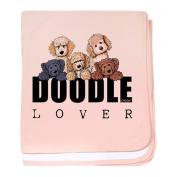 CafePress - Doodle Lover - Baby Blanket, Super Soft Newborn Swaddle
