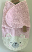 Chick Pea Pink Bear Swaddle Blanket