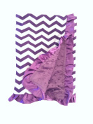 BayB Brand Blanket - Purple Chevron