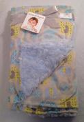 Blankets and Beyond Blue Pastels Elephant Design Baby Blanket