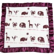 Bambino Land Satin Trim 2-Layer Snuggle Blanket - Jungle Girl